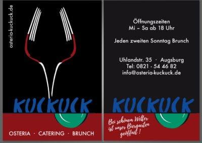 Visitenkarten für Osteria Kuckuck