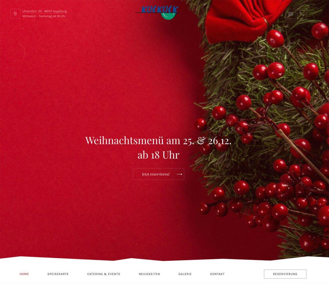 Zum Kuckuck!  – Die neue Website der Osteria Kuckuck