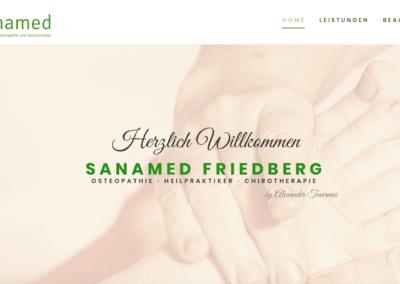 Neue Website für Sanamed Friedberg