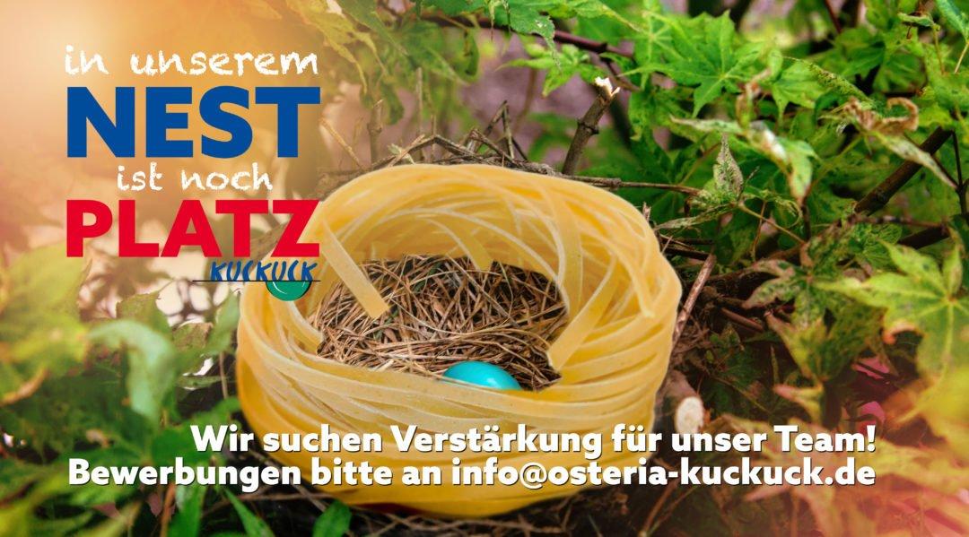 Stellenausschreibung Osteria Kuckuck