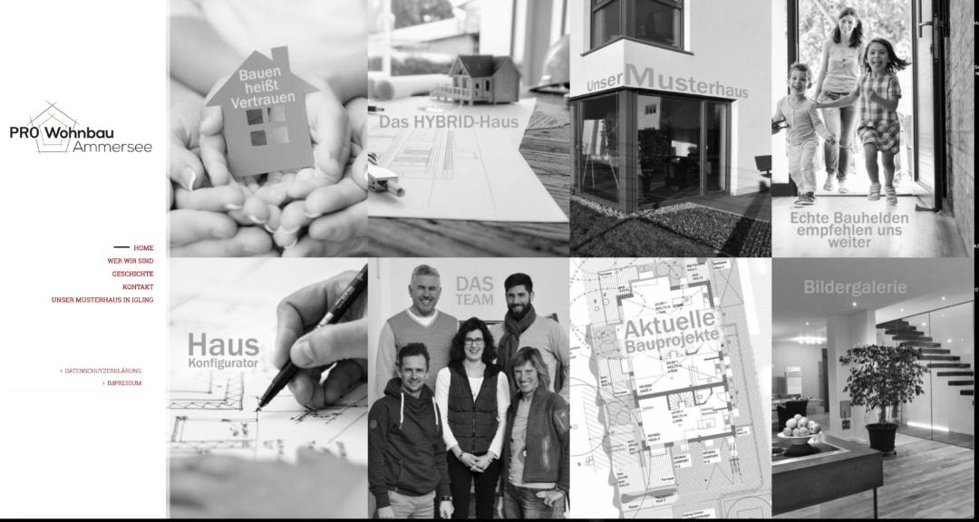 Neue Website für Wohnbau Ammersee GmbH