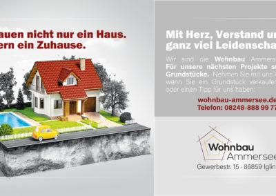 Flyer für Wohnbau Ammersee GmbH