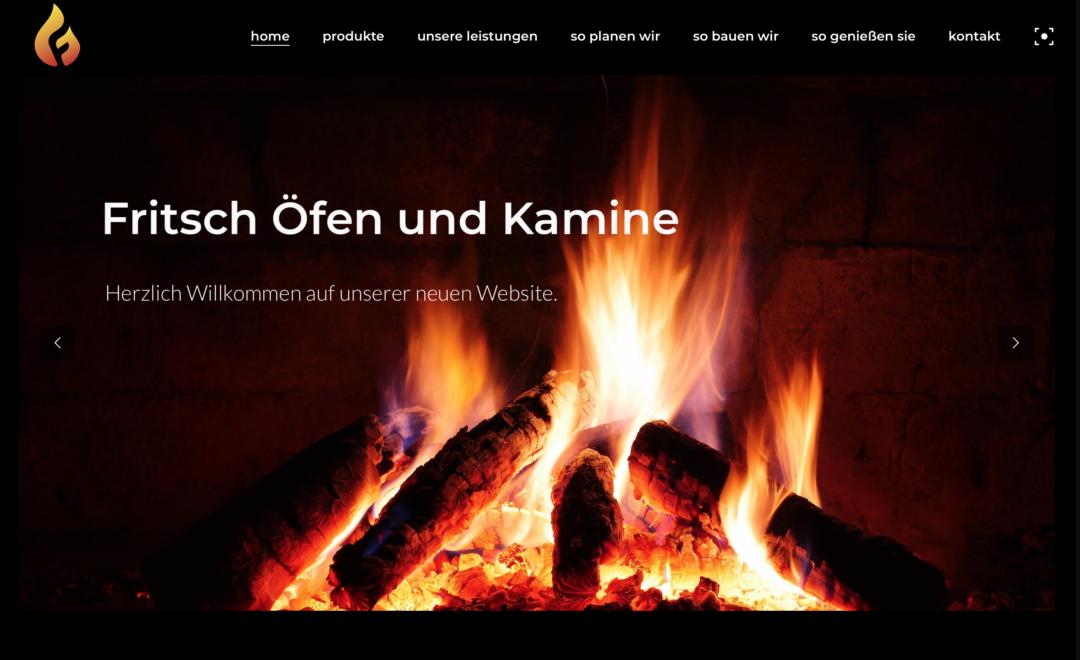 Fritsch Ofen- und Kaminhaus – neue Website